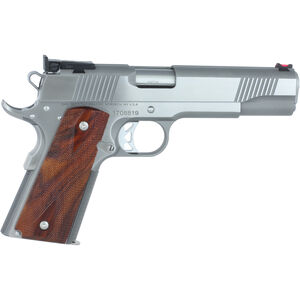 "Dan Wesson Pointman 45 PM-45 .45 ACP 1911 Semi Auto Pistol 5"" Barrel 8 Rounds Full Size Government Profile FO Front Sight Wood Grips Contrasting Stainless Finish"