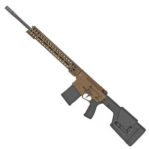 "POF USA Revolution DI 6.5 Creedmoor Semi Auto Rifle 20"" Barrel 20 Rounds Direct Gas Impingement System 14.5"" M-LOK Free Float Rail Magpul PRS Stock Burnt Bronze Finish"