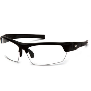 Pyramex Safety Products Tensaw Eye Protection Safety Glasses with Clear Lenses and Black Frames VGSB310T