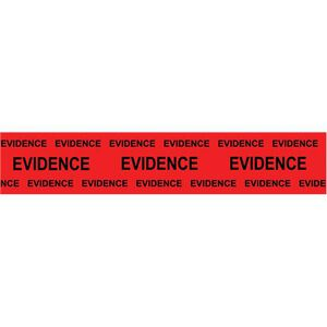 "Sirchie Box Sealing Evidence Tape 2"" Wide 165' Long Red with Black Print Marked Evidence 707E"