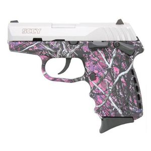 """SCCY CPX-2 Semi Auto Pistol 9mm Luger 3.1"""" Barrel 10 Rounds Polymer Frame Muddy Girl/Stainless Steel CPX-2TTMG"""