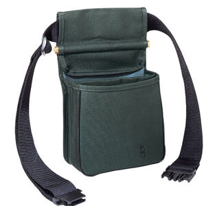 "Bob Allen Divided Shell Pouch with Belt 8""x4""x7"" Twin Compartments Synthetic Fabric Green"