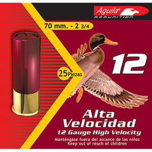 "Aguila High Velocity 12 Ga 2.75"" #6 Lead 1.25oz 250 rds"