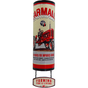 "Open Road Brands ""Farmall"" Arched Linked Embossed Tin Sign 5""x19"""