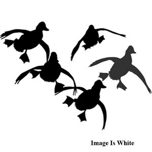 "Outdoor Decals ""Jukin Ducks"" Decal 6""x6"" Vinyl White"