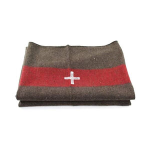 """Wool Blend Swiss Army Reproduction Blanket 60x84"""""""