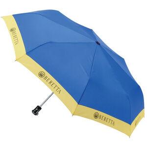 "Beretta Packable Umbrella 39"" Diameter Compact Design Nylon Blue/Yellow"