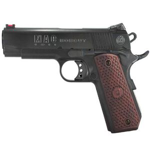 "MAC Bobcut 1911 Commander Semi Automatic Pistol .45 ACP 4.25"" Barrel 8 Round Capacity Hardwood Grips Blued Finish M19BC45B"