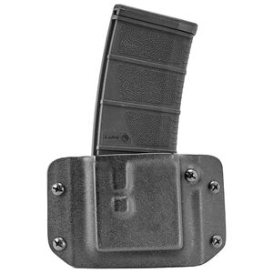 Mission First Tactical AR-15 Single Rifle Magazine Pouch Belt Loops Boltaron Material Matte Black Finish