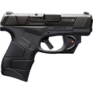 "Mossberg MC1sc 9mm Luger Subcompact Semi Auto Pistol 3.4"" Barrel 7 Rounds 3-Dot Sights With Laser No Manual Safety Polymer Frame Black"