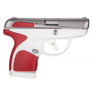 "Taurus Spectrum Semi Auto Pistol .380 ACP 2.8"" Barrel 6/7 Round Magazines Low Profile Fixed Sights Stainless Steel Slide/Polymer Frame White/Red Accents"