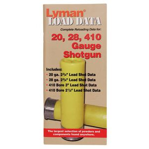 Lyman Load Data Book 16, 20, 28 Gauge, .410 Bore Shot Shells 72 Pages 9780002