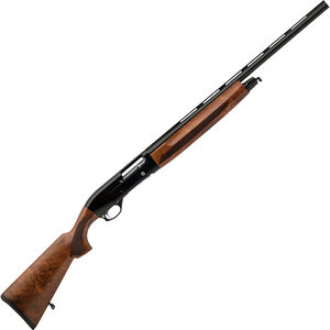 "Dickinson ASI 12 Gauge Inertia Semi-Auto Shotgun 26"" Barrel 3"" Chamber 4 Rounds Turkish Walnut Stock Black"