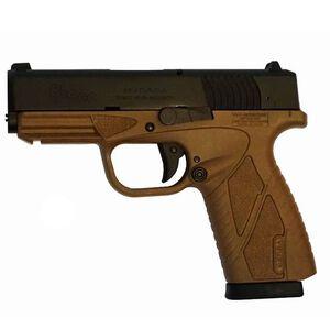 "Bersa BP9CC Semi Auto Pistol 9mm Luger 3.3"" Barrel 8 Rounds Fixed Sights Polymer Frame Black Slide/Flat Dark Earth Frame Finish"