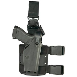 Safariland 6005 SLS Tactical with Quick Release Leg Harness Sig P220R, P226R Level 2 Retention Right Hand Thermal-Molded Tactical Black 6005-77421-121