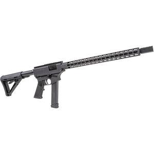 "Thureon Defense Competition Pistol Caliber Carbine Semi Auto Rifle 9mm Luger 16.5"" Barrel 17 Round GLOCK Magazine Billet Aluminum Receivers 15"" Octagonal Handguard Black Finish"