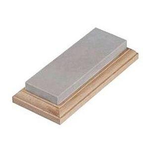 "Lansky Hard Arkasas Bench Stone 6""x2"" Walnut Base LBS6H"