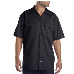 Dickies Men's Twill Work Shirt Large Regular Black 1574BK