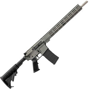 "Great Lakes .223 Wylde AR-15 Semi Auto Rifle 16"" Stainless Steel Barrel 30 Rounds 15"" Free Float M-LOK Handguard Collapsible Stock Gray Cerakote Finish"