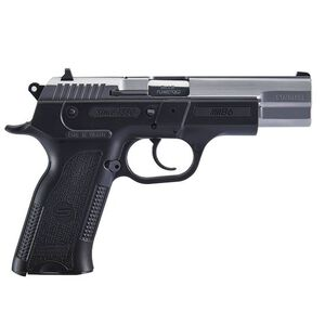 """Sarsilmaz B6 Semi Auto Pistol 9mm Luger 4.5"""" Barrel 17 Rounds Fixed Sights Manual Thumb Safety External Hammer Polymer Frame Black Finish Stainless Steel Slide"""