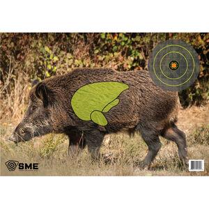"SME Game Targets Feral Hog Highlighted Vital Area 16.5""x24"" 3 Pack"