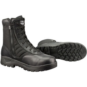 "Original S.W.A.T. Classic 9"" SZ Safety Plus Men's Boot Size 8 Regular Composite Safety Toe ASTM Tested Non-Marking Sole Leather/Nylon Black 116001-8"
