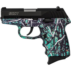 "SCCY CPX-2 9mm Luger Subcompact Semi Auto Pistol 3.1"" Barrel 10 Rounds No Safety Muddy Girl Serenity Polymer Frame with Black Slide Finish"