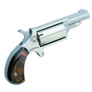 North American Arms Companion Cap and Ball Black Powder Revolver #11 Percussion Cap Wood Grips Stainless Finish NAA-22MCB