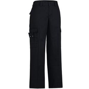 "Dickies Women's Flex Comfort Waist EMT Pants Poly/Cotton Twill Size 6 with 37"" Unhemmed Inseam Black FP2377BK 6UU"