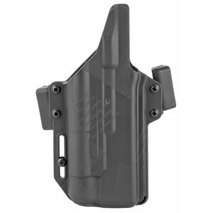 Raven Concealment Systems Perun Light Bearing OWB Holster For GLOCK 17/19/22/23/31/32 Ambidextrous Draw Surefire X300 Ultra Compatible Matte Black Finish