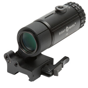 Sightmark 3x T-3 Magnifier with Locking Quick Detach Flip to Side Mount Aluminum Housing Matte Black Finish