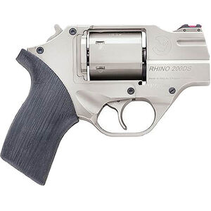 "Chiappa Rhino 200DS .357 Mag Revolver 2"" Barrel 6 Rounds Black FO Front Sight Rubber Grips Nickel Finish"