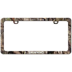 Browning Buckmark License Plate Frame Camo