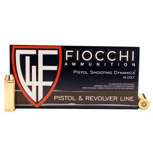 Fiocchi .45 Colt Ammunition 50 Rounds TMJ 255 Grains