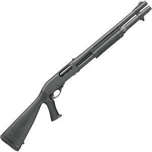 "Remington 870 Police 12 Gauge Pump Action Shotgun 18"" Barrel 3"" Chamber 6 Rounds Rifle Sights Fixed Pistol Grip Stock Black Parkerized Finish"