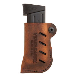 VersaCarry Adjustable Leather Magazine Holster OWB Ambidextrous Double Stack Magazines Leather Distressed Brown