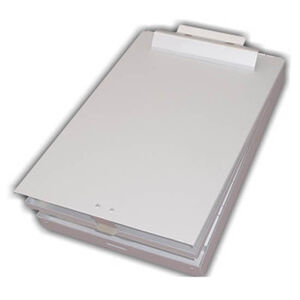 Posse Box Legal Size Bottom Open Clipboard Box Silver