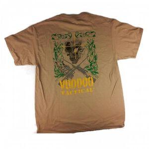Voodoo Tactical T Shirt Skull Preshrunk Cotton 3XL Sand
