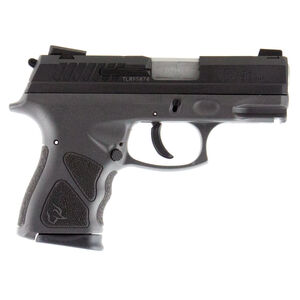 """Taurus TH9c 9mm Luger Semi Auto Pistol 3.5"""" Barrel 17 Rounds Thumb Safety Gray Polymer Frame Black Slide"""