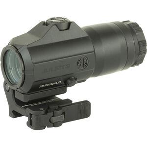 SIG Sauer Juliet3 3x Magnifier 24mm Objective Powercam Flip To Side Quick Release Picatinny Rail Mount Aluminum Housing Black