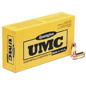 Remington UMC .357 SIG Ammunition 50 Rounds JHP 125 Grains