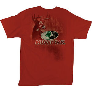 Mossy Oak Men's T-Shirt Standing Proud M Cotton Red