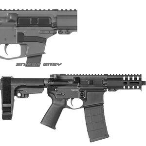 "CMMG Banshee 300 Mk4 9mm Luger AR-15 Semi Auto Pistol 5"" Barrel 30 Rounds Uses ARC Magazines RML4 M-LOK Handguard CMMG Micro/CQB RipBrace Sniper Grey Finish"