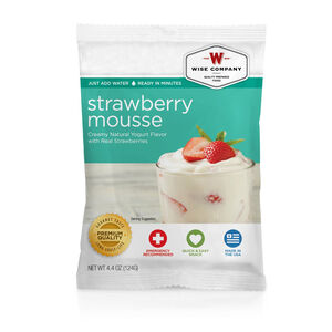 Wise Company Freeze Dried Food Pouch Dessert Dish Strawberry Mousse Single Pouch 4 Servings