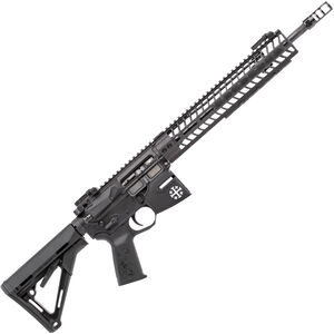 "Spikes Rare Breed Crusader 5.56 NATO AR-15 Semi Auto Rifle 16"" Barrel Crusader Helmet Billet Lower 12"" M-LOK Handguard Collapsible Stock Black Anodized Finish"