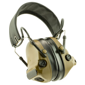 Peltor ComTac III Hearing Defender Electronic Earmuffs -20dB Noise Reduction Rating Slim Cup Design Ballistic Helmet Compatible Coyote Brown