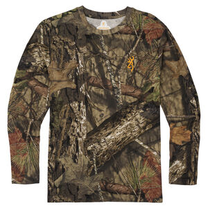 Browning Wasatch-CB Mens Camo T-Shirt X-Large Long Sleeve Regular Fit Cotton MOBUC