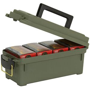 Plano Shotgun Shell Box Lockable Green Polymer 121202
