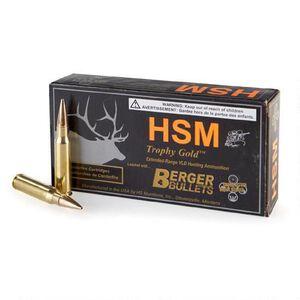 HSM Trophy Gold 6.5 Creedmoor Ammunition 20 Rounds 130 Grain Berger Match Hunting VLD Projectile
