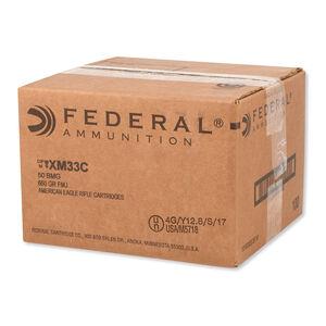 Federal American Eagle .50 BMG Ammunition 100 Rounds FMJ 660 Grain XM33C